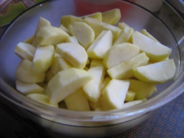 Apfel-Rosinen-Bienenstich - Rezept - Bild Nr. 2