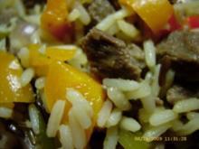 Filetpfanne mit Reis und Paprika - Rezept