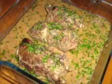 Rinderroulade mit pikanter Füllung - Rezept