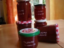 Pflaumenkonfitüre mit Slibowitz - Rezept