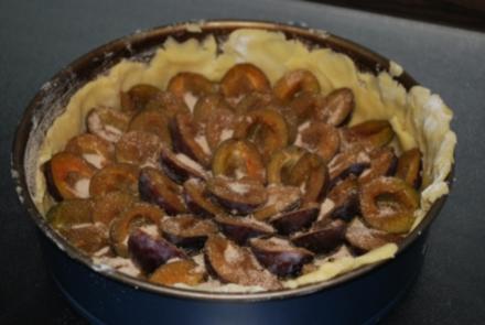 Pflaumenkuchen mit Guss - Rezept
