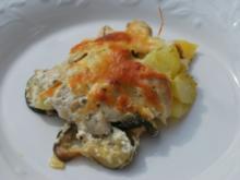 Zucchini-Kartoffel-Gratin mit Hähnchenfilet - Rezept