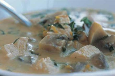 Thailändische Huhn-Kokos-Suppe - Rezept