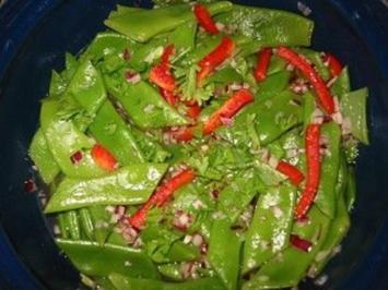 Grüne Bohnensalat mit Paprika - Rezept