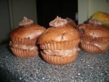 Schoko-Grieß-Törtchen mit Pudding-Grieß-Creme - Rezept