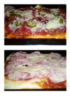 Pizza (für ein Backblech) - Rezept