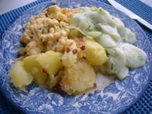 G´schüttelte mit Rührei und Gurkensalat>> - Rezept