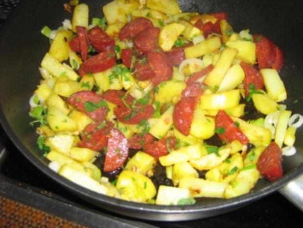 Kartoffel-Bohnen-Pfanne mit Chorizo - Rezept - Bild Nr. 6