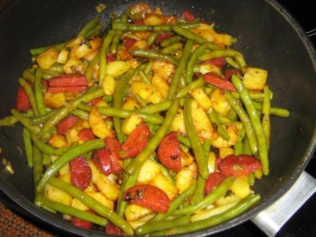Kartoffel-Bohnen-Pfanne mit Chorizo - Rezept - Bild Nr. 8