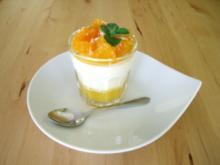 Holunderblütenmousse mit Orangengelee - Rezept