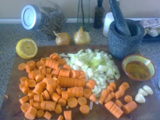 Cremige rote Linsen Suppe - Rezept - Bild Nr. 3