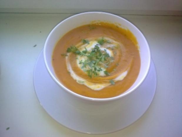 Cremige rote Linsen Suppe - Rezept - Bild Nr. 2