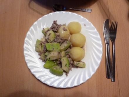 Fl/Rind/Schwein: Bärbel's Zucchini-Hacktopf - Rezept