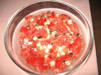 Tomatensalat mit Feta - Rezept
