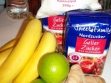 Bananen-Kokosmarmelade mit Limone und Ingwer - Rezept