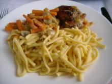 Hähnchen auf Weißweingemüse>> - Rezept