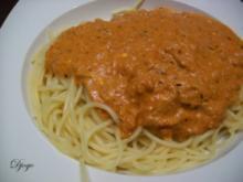 Nudelsoße Tomate-Thunfisch (5min) - Rezept