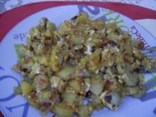 würstchen-bratkartoffeln - Rezept