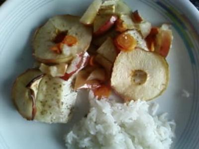 Kabeljau mit Apfel - Rezept