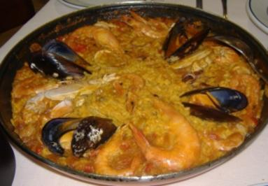 ( Galicien )Arroz con mariscos - Rezept