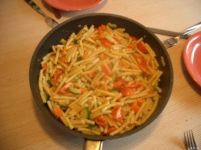 a`schnelle Zucchini-Pfanne - Rezept