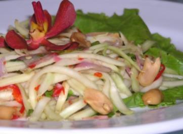 Malaiische Grüne Mango Salat (Kerabu Mangga) - Rezept
