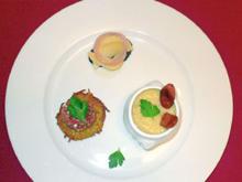 Reibeküchlein mit Tatar, Kartoffelsuppe mit Mettwurst und Kölsche Kaviar - Rezept