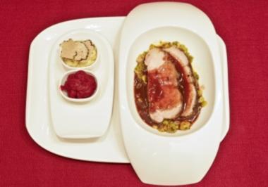 Iberico-Schwein, Püree aus Trüffeln und Roter Bete (Margarethe Schreinemakers) - Rezept