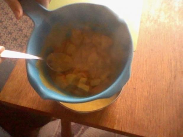 Hähnchenstreifen mit Reis und Currysoße - Rezept - Bild Nr. 5