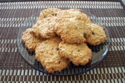 Rezept: Haferflocken Cookies mit Schokotröpfchen