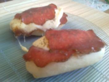 schnelle Pizzabrötchen/ Pizzasemmeln - Rezept