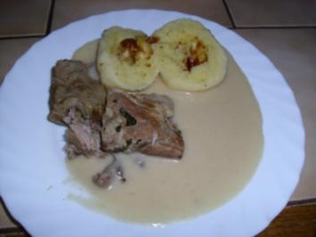 Rippchen gekocht ~ Wiener Kartoffelklöße ~ Meerrettichsoße - Rezept