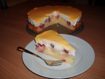 Kirsch Schmand Kuchen Mit Eierlikorguss Rezept Kochbar De