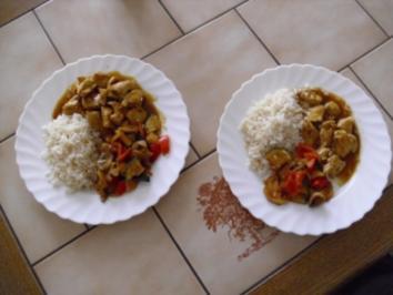 Putengulasch ~ Pfannengemüse ~ Reis - Rezept