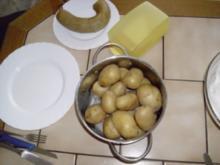 Pellkartoffeln ~ Quark ~ Leberwurst - Rezept