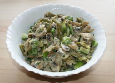 Champignons Bohnen Salat - Rezept