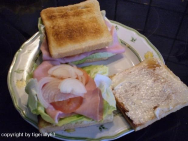 Schnelles Sandwich - Rezept