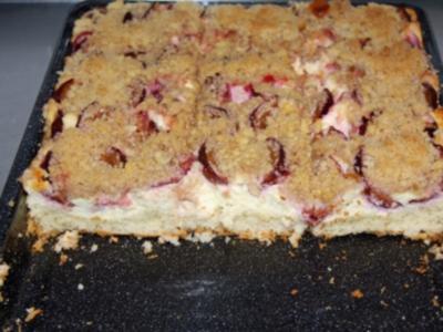 Pflaumen-Quark-Streuselkuchen vom Blech - Rezept