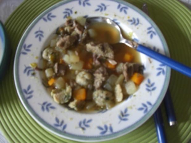 Suppe- Gemüsesuppe  mit Markklöschen (FOTO - Rezept - Bild Nr. 2
