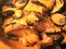 Pilze --- Gedünstete Waldpilze - Rezept