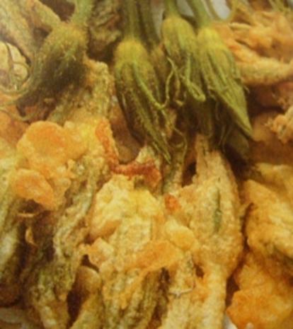 Zucchiniblüten fritiert - Rezept