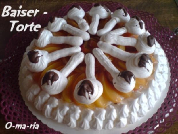 Kuchen  Baiser - Torte - Rezept