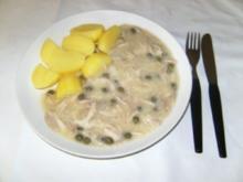 HAUPTGERICHT - Hühnerfrikasee und Kartoffeln / Reis - Rezept