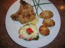 Ratatouille-Mozzarella-Törtchen (als Beilage zu meinem Chili-Kotelett mit Hasselback-Kartoffeln) - Rezept