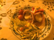 Matjesröllchen  in Sahnemeerrettich- Crem - Rezept