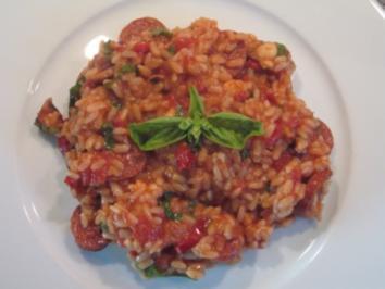 Reis mit Chorizo und Tintenfisch - Rezept