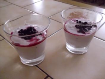 ein lecker Nachtisch mit Heidelbeeren - Rezept