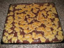 Schokopudding-Streuselkuchen mit Kokos - Rezept