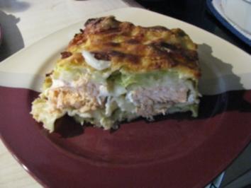 Wirsing-Lachs-Lasagne - Rezept