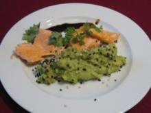 Lachs glasig gebraten nach japanischer Art - Rezept